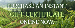 Gift Certificate - Spa Services Napa Valley